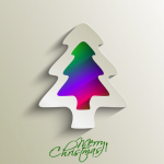 Colorful Cartoon Christmas Tree 2019 Vector