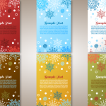 Multicolored Christmas Snow Message Template 2019 Vector