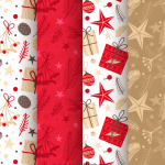 Multi-pattern group Christmas element 2019 Vector