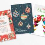 Diversified Christmas cards 2019 Vector