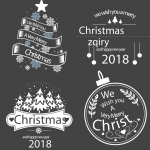 Various Christmas Blessing Templates 2019 Vector