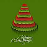 Red-green-toothed Christmas tree 2019 Vector