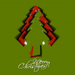 Red and Green Mixed Cartoon Triangle Christmas Tree 2019 Vector