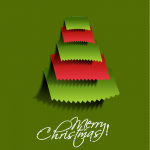 Red and Green Mixed Triangle Christmas Tree 2019 Vector