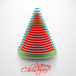 Red-green-blue disc Christmas tree 2019 Vector