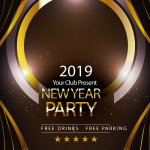 Golden New Year 2019 Vector