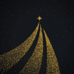 Golden Snowflake Christmas 2019 Vector