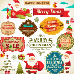Cartoon Santa Claus Gifts 2019 Vector