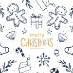 Cartoon Style Christmas Snowman 2019 Vector