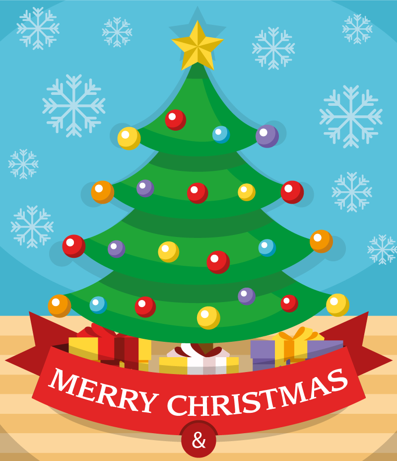 Christmas Images 2019 Download.Cartoon Balls Decorate Christmas Trees 2019 Vector Free