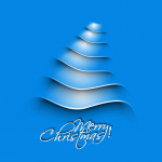 Blue Waveline Christmas Tree 2019 Vector