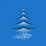 Blue arrow line Christmas tree 2019 Vector