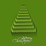 Green Dentated Christmas Tree 2019 Vector