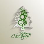 Green pattern multi-image Christmas tree 2019 Vector