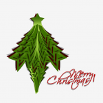 Green Pentagonal Christmas Tree 2019 Vector