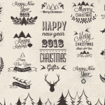 Forest Christmas Deer 2019 Vector