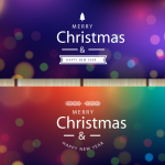 Christmas cards with colorful stars 2019 Vector