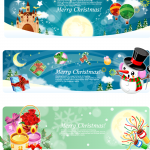 Multi-screen Christmas greetings 2019 Vector