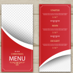 Christmas Red Menu 2019 Vector