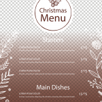 Christmas Lace Menu 2019 Vector