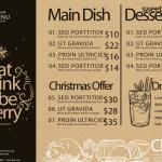 Christmas Price List 2019 Vector