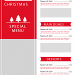 Christmas shopping menu display 2019 Vector
