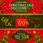 Christmas Price Reduction Publicity 2019 Vector