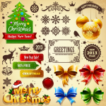 Christmas decorative materials 2019 Vector