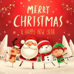 Christmas elves spend Christmas together 2019 Vector