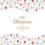 Christmas cartoon multi-element combination 2019 Vector