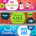 Christmas cartoon character promotion 2019 Vector