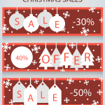 Christmas cartoon sales banner 2019 Vector