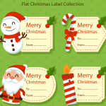 Christmas cartoon snowman convenience stickers 2019 Vector