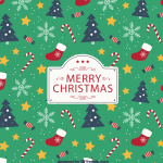 Christmas cartoon element pattern 2019 Vector