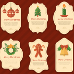 Christmas cartoon signs 2019 Vector