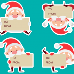 Santa Claus Cartoon Variety Notepad 2019 Vector