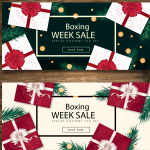 Heavy Fist Promotion Week for Christmas Gifts 2019 Vector