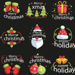 Christmas Gift Combination Decoration 2019 Vector