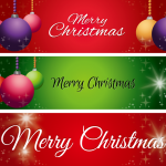 Christmas BALLOON BANNER 2019 Vector