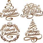 Christmas Curve Text 2019 Vector
