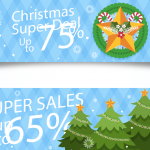 Christmas Super Promotion Chart 2019 Vector