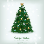 Christmas Tree Colorful Ball Dress 2019 Vector