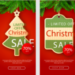 Christmas Tree Shape Promotion 2019 Vector