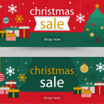 Christmas promotion cartoon gifts 2019 Vector