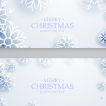 Christmas snowflakes drifting 2019 Vector