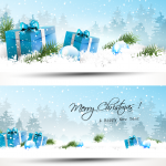 Christmas snow gift 2019 Vector