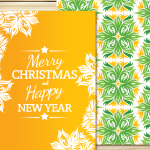 Post lace postcards for Christmas 2019 Vector