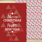 Postcards for Christmas 2019 Vector