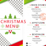 Selection of Christmas Show Menu 2019 Vector