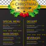 Christmas Show Sales Menu 2019 Vector
